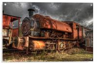 HDR Old Steam Train, Acrylic Print