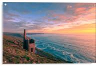 Wheal Coates tin mine  , Acrylic Print
