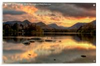 Derwent Water Twilight, Acrylic Print