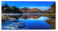 Derwent Water - A Winter's Day, Acrylic Print