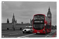 Red Bus and Big Ben, Acrylic Print