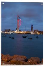 Spinnaker Tower in Red, Acrylic Print