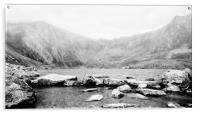 Welsh Misty Mountains Snowdonia Wales, Acrylic Print