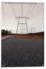 Road To The Power Lines, Acrylic Print