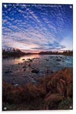 Sunset By The River Bend, Acrylic Print