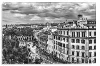 Rome Aerial Cityscape View From Campidoglio, Acrylic Print