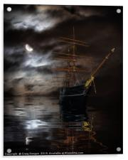 RRS Discovery Ship - Dundee, Acrylic Print