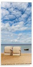 Idyllic Baltic Sea with typical beach chairs, Acrylic Print