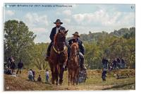 Weary Union Soldiers, Acrylic Print