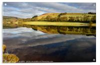 A mirror reflection in Ladybower Reservior       , Acrylic Print