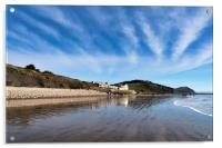Winter Seascape At Charmouth     , Acrylic Print