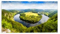 View of Vltava river from Solenice viewpoint, Czec, Acrylic Print