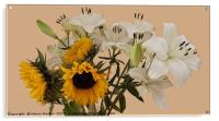Sunflowers and lilies, Acrylic Print