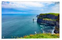 Cliffs of Moher in Ireland Europe , Acrylic Print