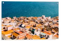 Aerial Panoramic View Of Peniscola City In Spain, Acrylic Print