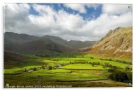 Looking Up Mickleden in the Lake District, Acrylic Print