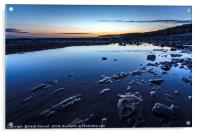 Llantwit Beach Blues , Acrylic Print