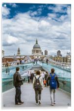 Bridge to St Pauls, Acrylic Print
