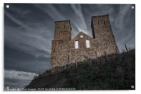 Reculver Towers by moonlight, Acrylic Print