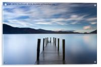 Sunset Jetty, Derwentwater in the UK Lake District, Acrylic Print