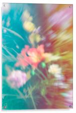 Abstract blurred flowers, Acrylic Print