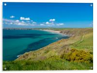 Newgale In the Spring., Acrylic Print