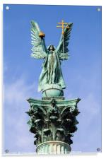 Archangel Gabriel Statue on the Heroes Square Colu, Acrylic Print