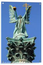 Archangel Gabriel Statue on Heroes Square Column i, Acrylic Print