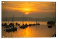 Outer Harbour Sunset, Acrylic Print