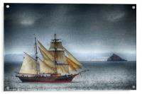 The Tres Hombres in Torbay (textured), Acrylic Print