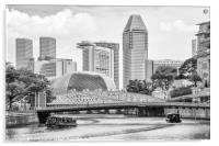 Bum boats on the Singapore river, Acrylic Print