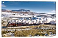 Steam and Snow, Acrylic Print