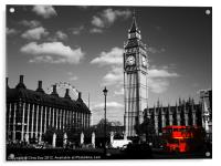 Routemaster Bus and Big Ben, Acrylic Print
