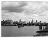 London Skyline in Black and White, Acrylic Print