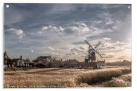 Cley next the Sea  Norfolk - A Bright Winters Day, Acrylic Print