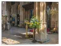 Easter at St John Baptist Cirencester , Acrylic Print