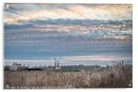 Cley Village and Windmill, Acrylic Print