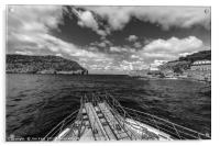 Puerto Soller entrance to The Harbour, Acrylic Print