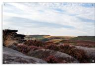 View from Surprise View, near Hathersage, Acrylic Print