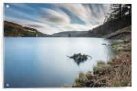 Ladybower reservoir from the top, Acrylic Print