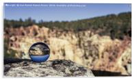 Reflections in the mining reservoir, Acrylic Print