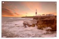 Portland Bill Sunset, Acrylic Print