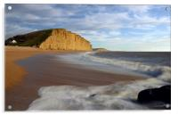 West Bay Wispy Clouds, Acrylic Print