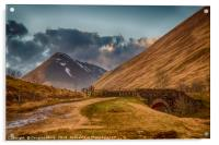 The Old Military Road Out Of Tyndrum, Acrylic Print