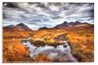 The Cuillin Range No.3, Acrylic Print