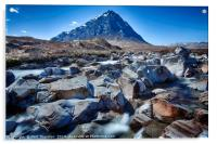 View of the Munro Stob Dearg, Acrylic Print