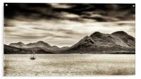 Stormy skies over the The Sound of Raasay and The , Acrylic Print
