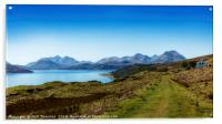 The Sound of Raasay and The Cuillin mountain range, Acrylic Print