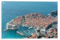 Birds eye view of Dubrovnik Old town, Acrylic Print