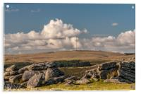Looking north from Gutter Tor on Dartmoor, Acrylic Print